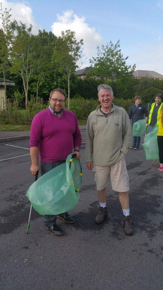 The 'Wimbles' get to work on a community litter pick