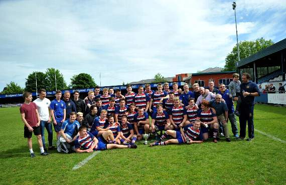 Joy for Pencoed RFC youth as they lift cup!