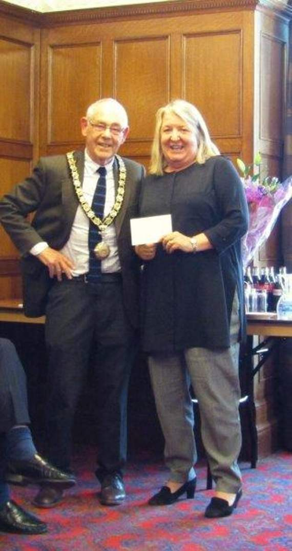 Final event and cheque handover for Penarth Mayor